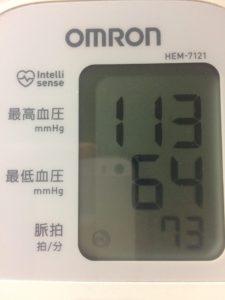 ミノキシジルタブレット服用前の血圧